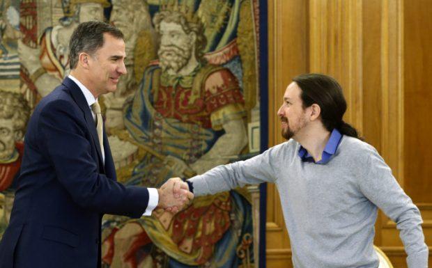 El Rey y Pablo Iglesias en una imagen de archivo / Gtres