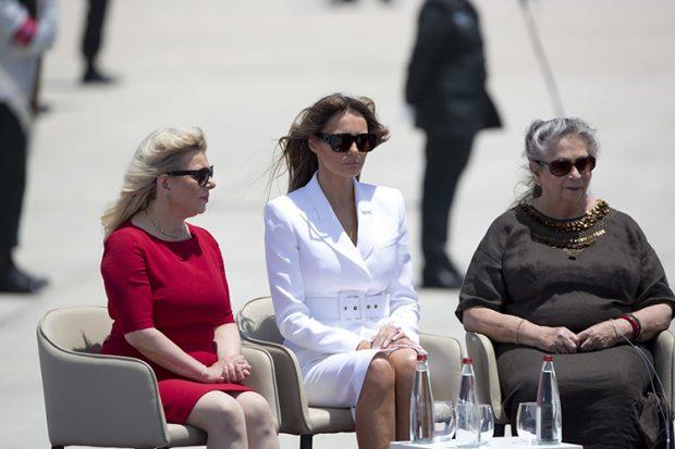 Nechama Rivlin y Melania Trump