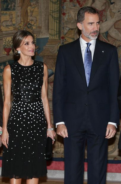 SSMM Los Reyes durante la recepción ofrecida por el Presidente de Israel en el Palacio de El Pardo