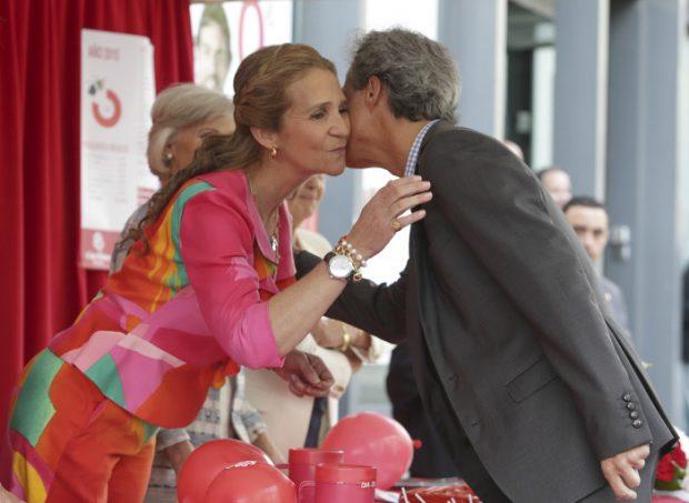 La infanta Elena y Fernando Garrido