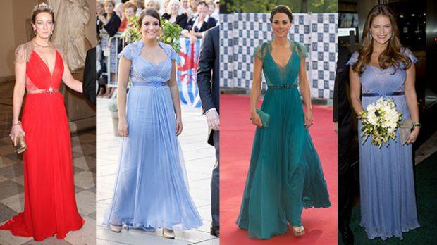 Magdalena de Suecia, Kate Middleton, Alexandra Princess of Sayn-Wittgenstein-Berleburg y Alexandra de Luxemburgo.