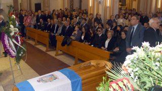 Interior de la iglesia donde se ha celebrado el funeral de Gregorio Esteban Sánchez /Gtres