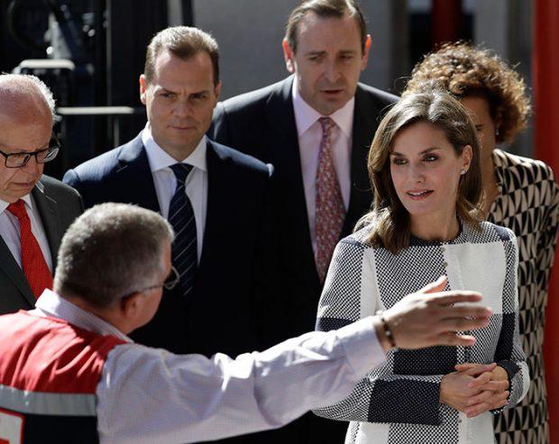 La reina Letizia durante su viaje en solitario a México