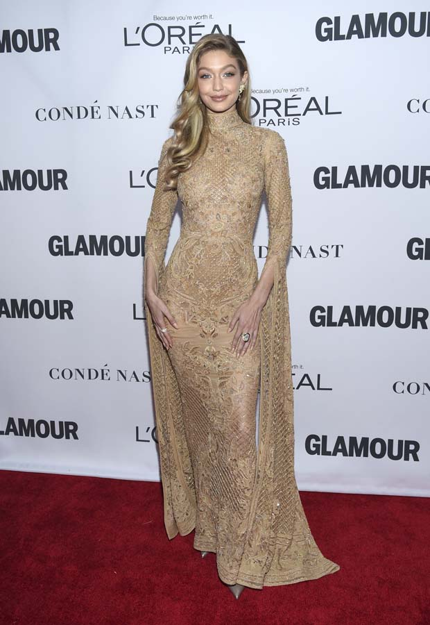 Gigi Hadid attends the 2017 Glamour Women of the Year Awards at Kings Theatre on Monday, Nov. 13, 2017, in New York.