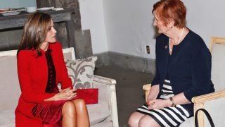 Doña Letizia en su encuentro con la Presidenta de la UICC / Casa de S.M el Rey