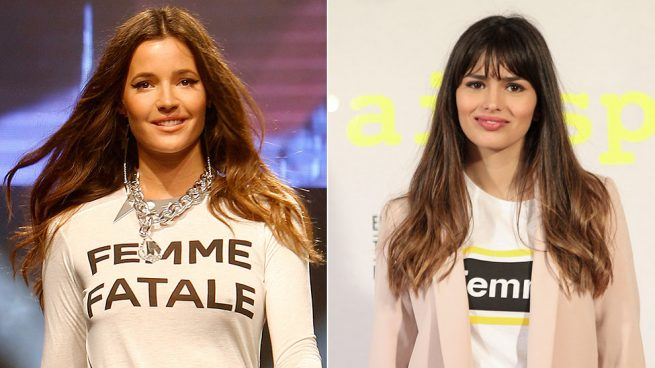 Malena Costa y Sara Sálamo camiseta common life