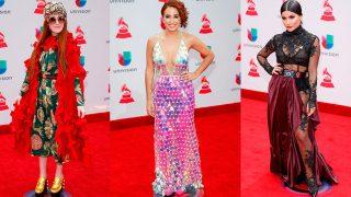 GALERÍA. Las peor vestidas en la alfomdra roja de los Grammy Latino / Gtres