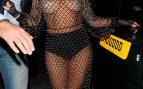 Lady Gaga de paseo en Londres con un vestido transparente