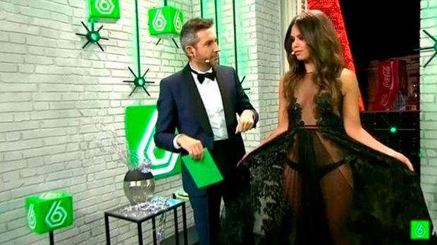 vestido transparente de Cristina Pedroche en Nochevieja 2014