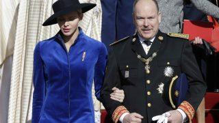 El príncipe Alberto de Mónaco y Charlène este domingo /Gtres