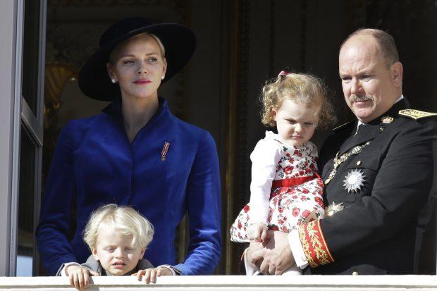 Charlene, una princesa de azul en el Día Nacional de Mónaco