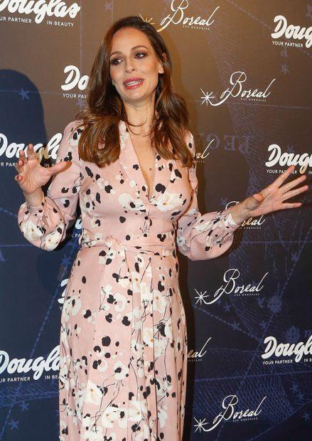 Eva González durante la presentación de su nuevo perfume 'Boreal'