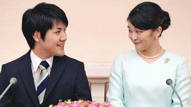 La princesa Mako y Kei Komuro