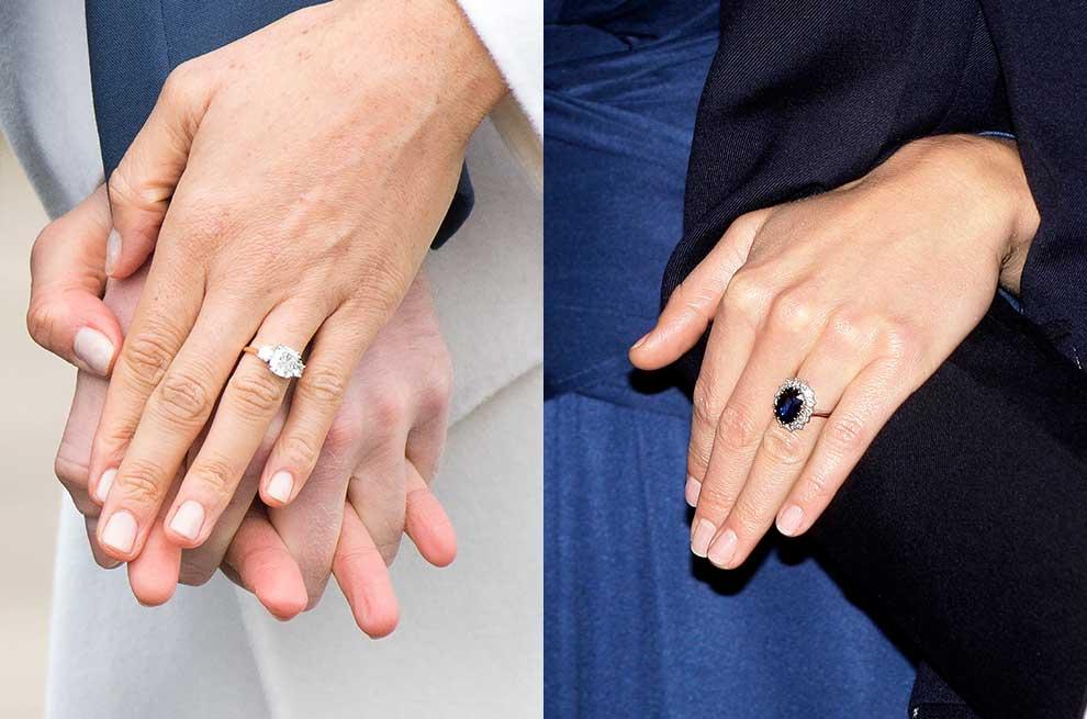 0bd1719b4ed6 El anillo de compromiso de Meghan Markle supera al de Kate Middleton