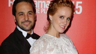 La actriz María Castro con su novio José Manuel Villava.