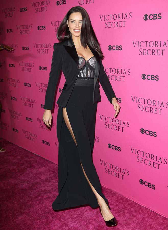 Adriana Lima Victoria's Secret Angels Gather To Watch The 2017 Victoria's Secret Fashion Show in NYC