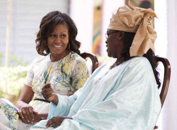 Marieme con Michelle Obama