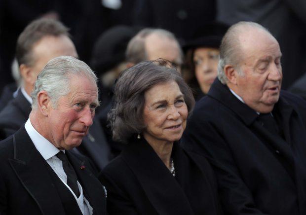 EN IMÁGENES | Los reyes Juan Carlos y Sofía, juntos en el último adiós a Miguel de Rumanía