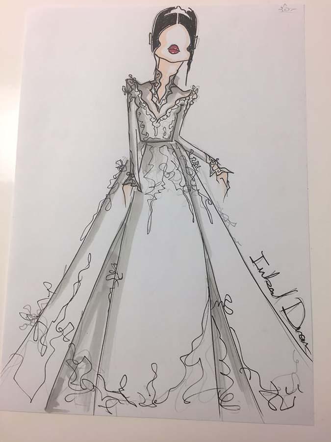 bocetos vestido de novia de meghan markle