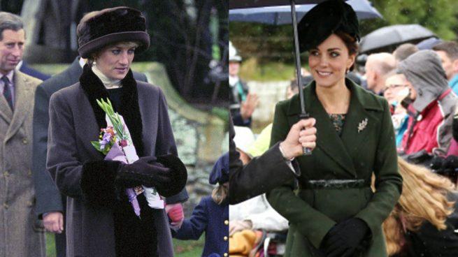 Los looks de Kate Middleton y Diana de Gales en los que (seguro) se inspirará Meghan Markle para la misa de Navidad