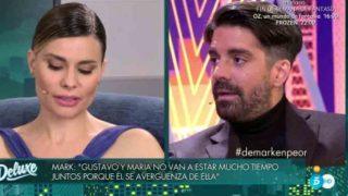 María  Lapiedra y Mark Hamilton durante la entrevista /Mediaset