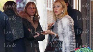 Carmen Lomana, Marta Chávarri y su ex Antonio Gutiérrez se encuentran en Madrid/Gtres