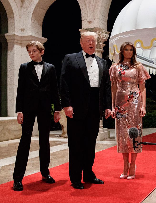 Melania Trump también se rinde al 'brilli-brilli' para cerrar el año
