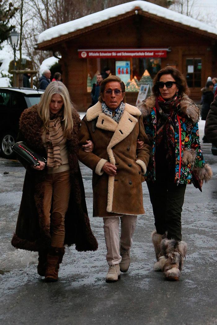 Naty Abascal y Valentino en Gstaad