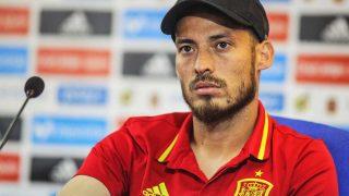 David Silva, en una rueda de prensa con la Selección Española / Gtres