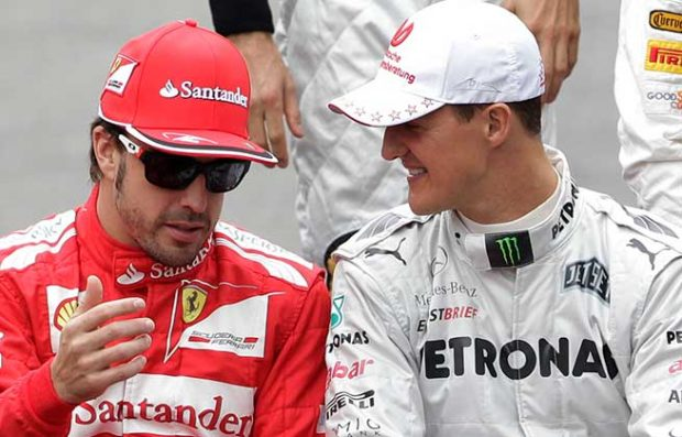 Fernando Alonso y Michael Schumacher