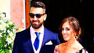Anabel Pantoja y Juanlu Viñolo la última vez que se dejaron ver juntos, en una boda el pasado mes de octubre / Gtres