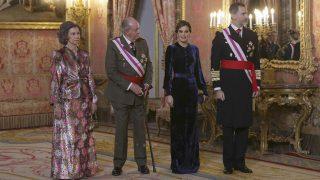 Los Reyes y los Eméritos en la Pascua Militar
