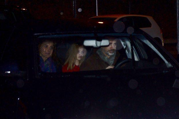 Los Reyes a su llegada a casa de Jesús Ortiz / Gtres
