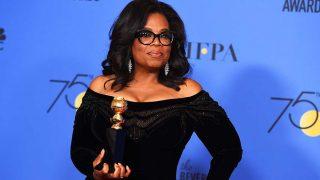 Oprah Winfrey en los Globos de Oro 2018 / Gtres