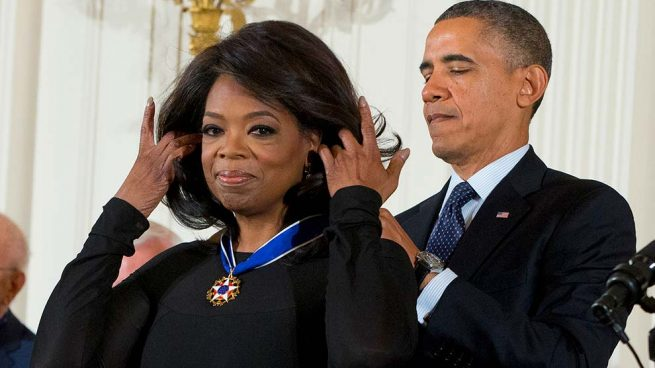 Oprah Winfrey y Barack Obama