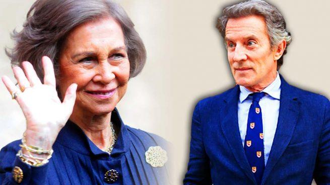 La reina Sofía y Alfonso Díez