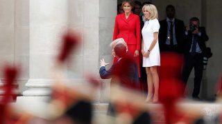 La Primera Dama de Estados Unidos, Melania Trump, y la Primera Dama de Francia, Brigitte Macron. / Gtres