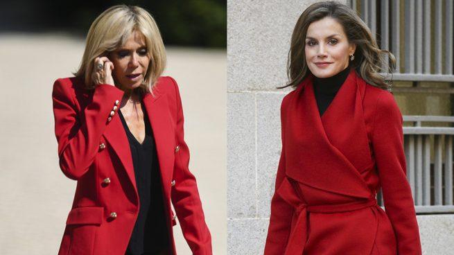 La reina Letizia y Brigitte Macron