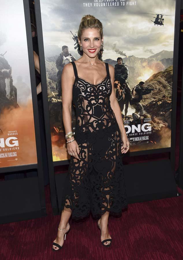 Elsa Pataki en la premiere de '12 Strong' en Nueva York