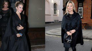 Elsa Pataky y Kate Moss, dos estilos en negro / Gtres