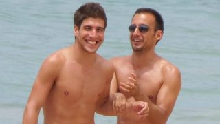 Amenábar y David durante unas vacaciones en Cádiz /Gtres