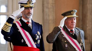 Los reyes Juan Carlos y Felipe durante la Pascua Militar / Gtres
