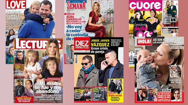 La crisis de Jorge Javier, Alba Carrillo, los mellizos de Enrique Iglesias y María Lapiedra y sus hijas protagonizan las portadas de la semana