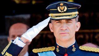 El rey Felipe durante su solemne proclamación en 2014 / Gtres