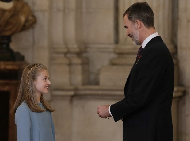 Leonor y su padre / Gtres
