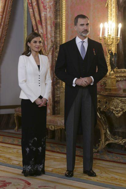 Los Reyes en el Palacio Real