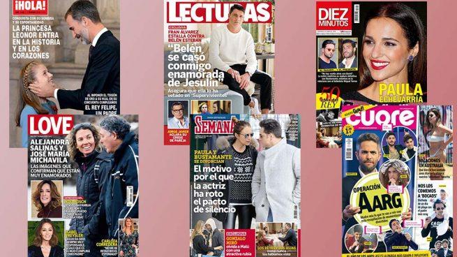 El debut de Leonor, la separación de Paula Echevarría y una exclusiva de Fran Álvarez protagonizan las portadas de la semana