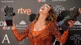 Emma Suárez, ganadora del Premio Goya a mejor actriz protagonista por 'Julieta' y actriz de reparto por 'La próxima piel¡. / Gtres
