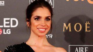 Elena Furiase sobre la alfombra roja de los premios Goya 2018 / Gtres