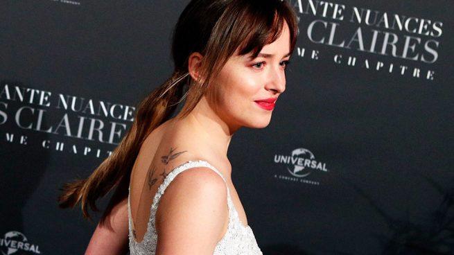 Dakota Johnson durante el estreno de '50 sombras liberadas' en París / Gtres